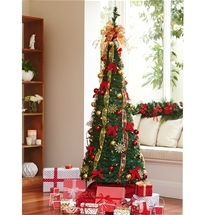 Collapsible Decorated Christmas Tree