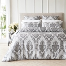 Marcella Silver Quilt Cover Set