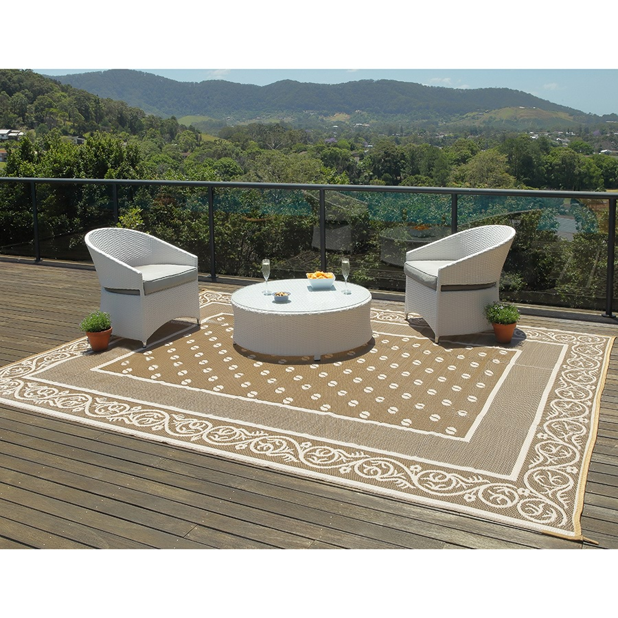 khaki patio mat innovations