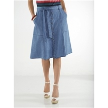 Button Front Essential Skirt
