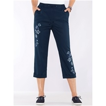 Embroidered Capris