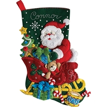 Santa's Sleigh Stocking