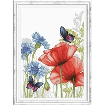 Poppies & Butterflies
