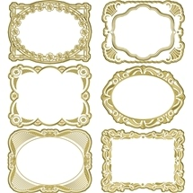 Embossed Gold Frame Stickers