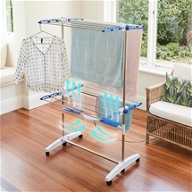 Faster-Drying Clothes Rack