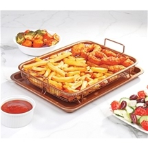 Fat-Free Crisping Basket and Tray