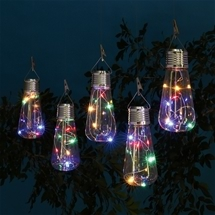 Colourful Solar Hanging Bulbs