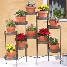 Folding Trellis Planter Wall