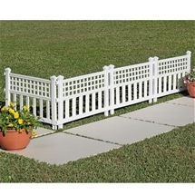 Garden Fence Panels (Set of 4)