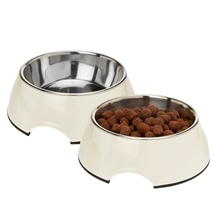 Pet Bowls with Stainless Steel Inner - Set of 2