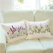 Hand Embroidered Floral Cushions