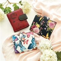 Pretty Printed Leather Wallet