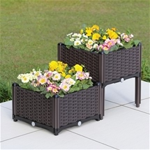 Set of 2 Elevated Planter Boxes