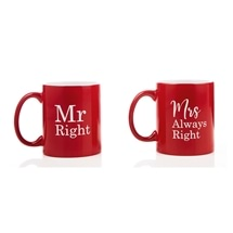 Mr Right/Mrs Always Right Mug Set