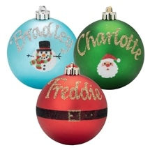 Personalised Novelty Baubles