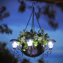 Hanging Planter with Solar Lights