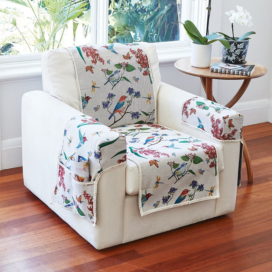 Floral & Birds Chair Covers_BRDCV_1