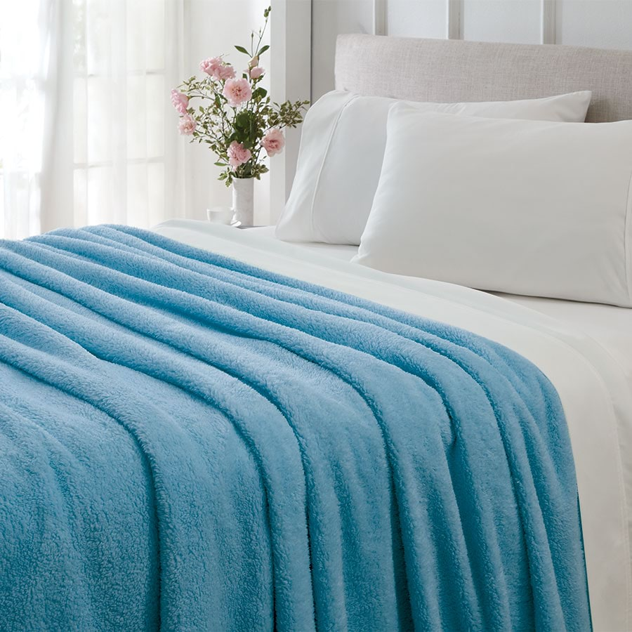 Simply Sherpa Solid Colour Blanket_SHPBKT_0