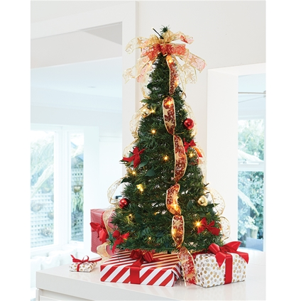Collapsible Christmas Tree.Collapsible Decorated Christmas Tree